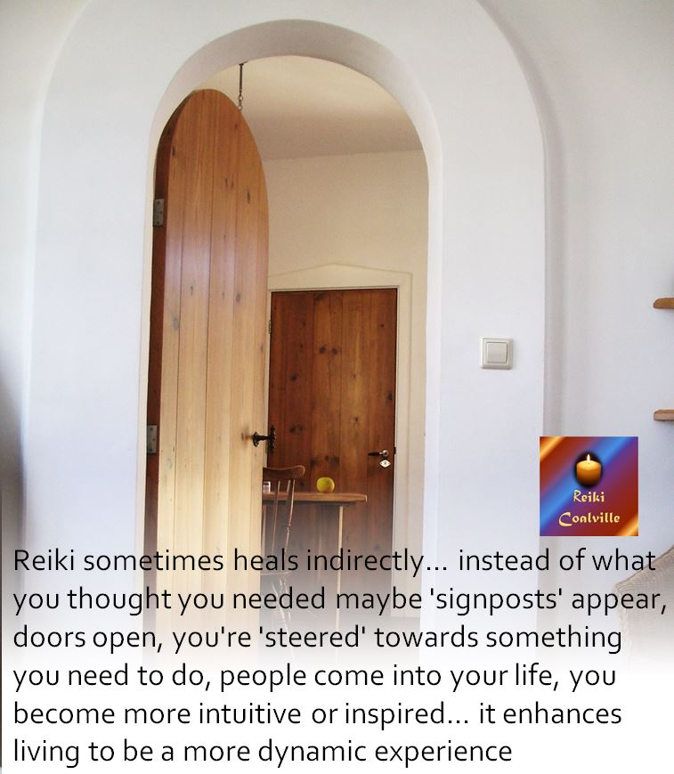Reiki sometimes heals indirectly Reiki Coalville with Cheryl Colpman Reiki Master