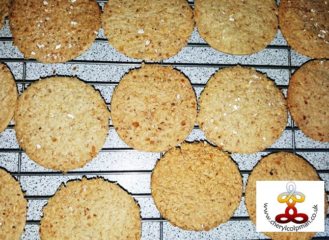 home made gluten free oat cakes Cheryl Colpman