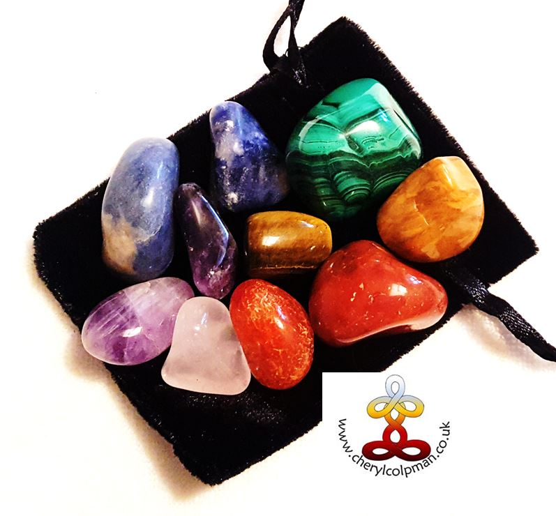 crystal healing set chakra bright crystals multicoloured rainbow crystal healing with Cheryl Colpman