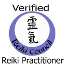 Verified Reiki Practitioner badge from Reiki Association www.cherylcolpman.co.uk