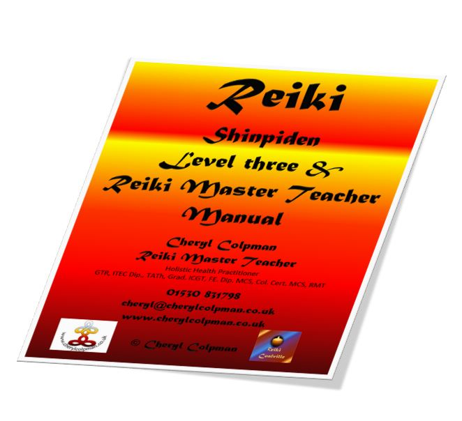Reiki manual 3 three Master Teacher level example Cheryl Colpman Reiki Master Teacher