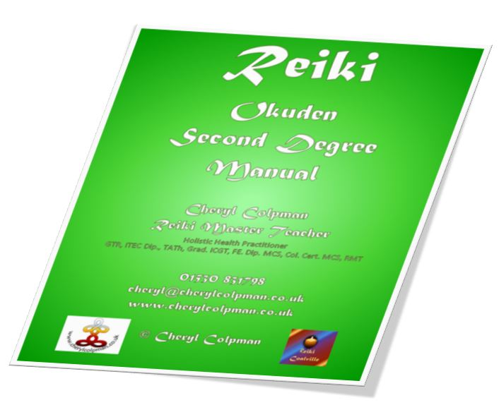 Reiki manual level two 2 example Cheryl Colpman Reiki Master Teacher
